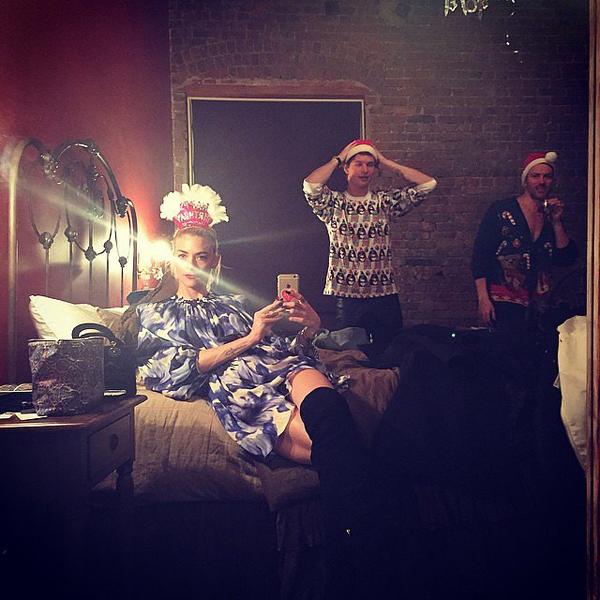 Jaime-King-took-selfie-Ansel-Elgort-party