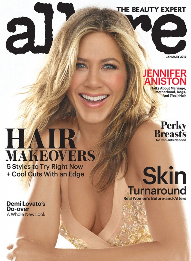 Дженнифер Энистон на обложке Allure, январь 2015