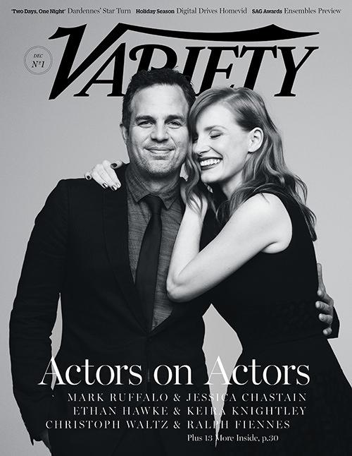 Джессика Честйен и Марк Руффало на обложке Variety