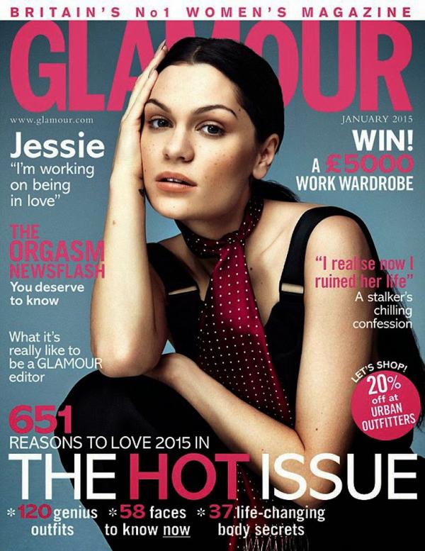 Джесси Джей на обложке Glamour, январь 2015
