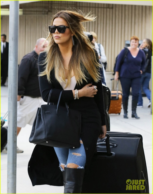 Khloe Kardashian Catches A Flight At Burbank Airport
