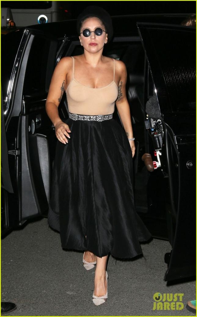 Леди Гага в Нью-Йорке в ночь на четверг