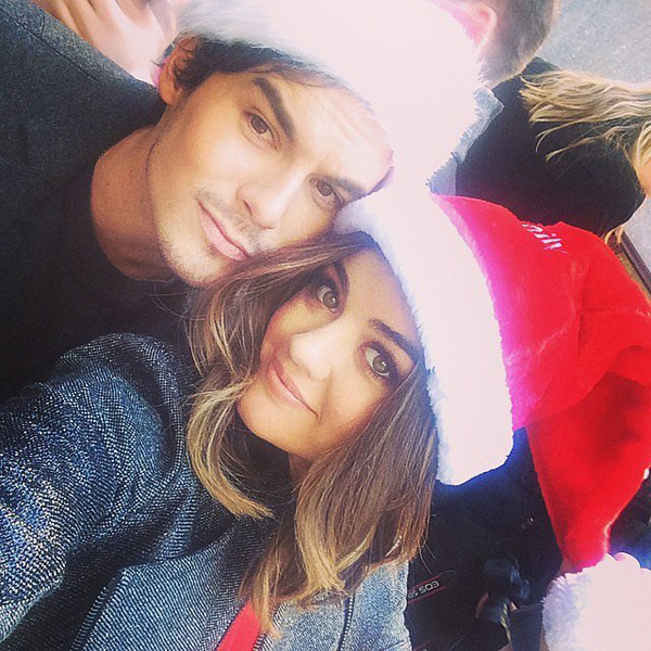 Lucy-Hale-wore-Santa-hat-her-Pretty-Little-Liars-costar