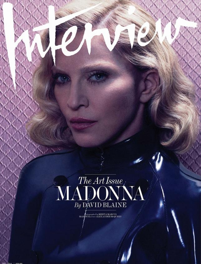 Мадонна на обложке американского  Interview
