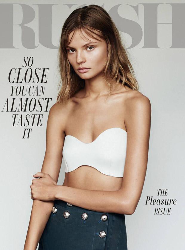 Магдалена Фраковяк на обложке Russh Magazine