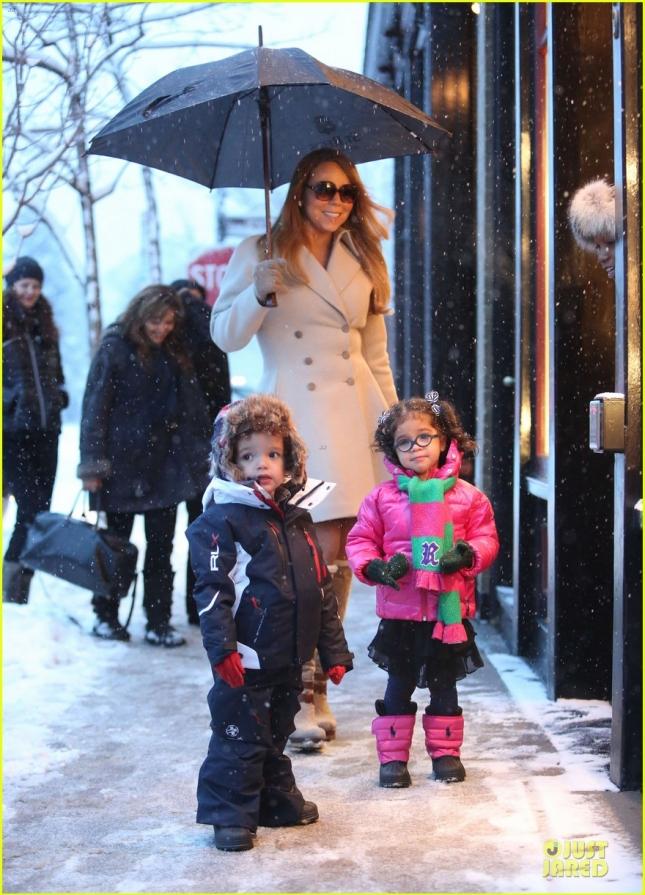 Мэрайя Кэри с детьми - Марроканом и Монро