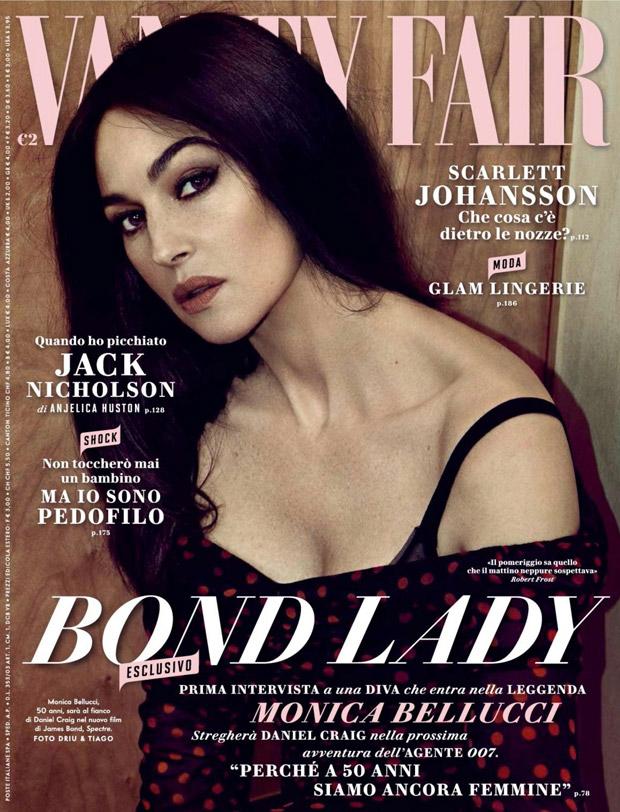 Моника Белуччи на обложке Vanity Fair Italia