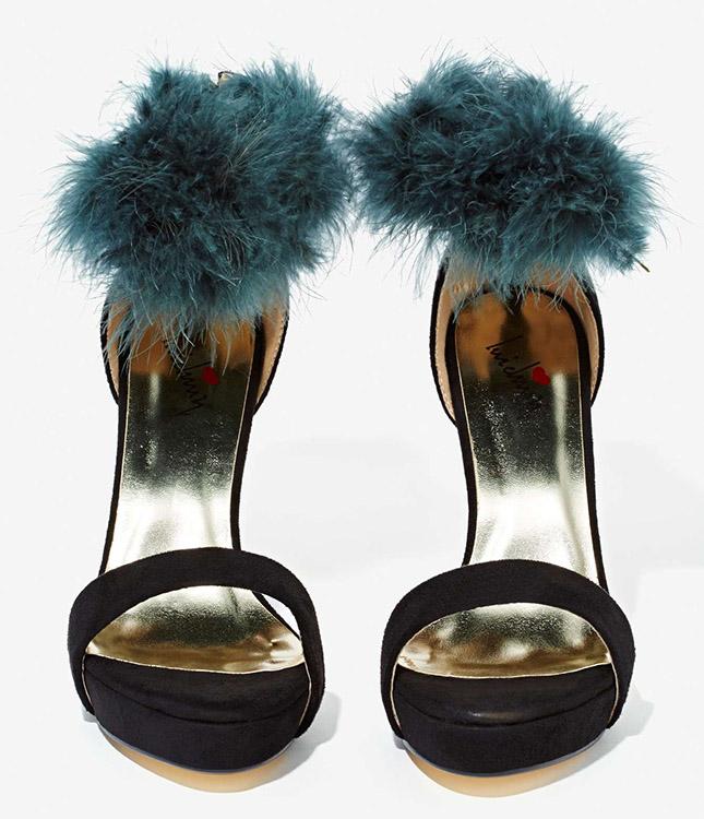 nasty-gal-faux-fur-heels