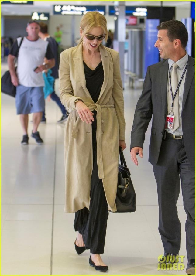 Nicole Kidman Departs Sydney