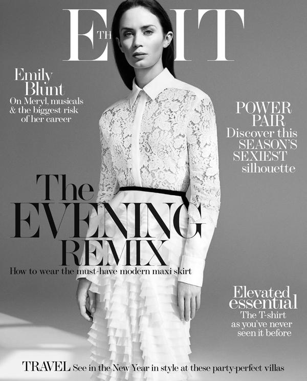Эмили Блант на обложке The Edit
