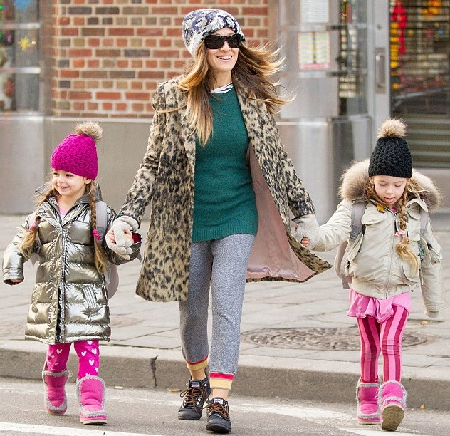 Сара Джессика Паркер с дочками