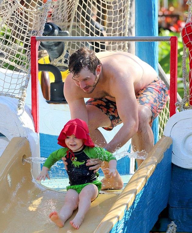 Крис Пратт с сыном