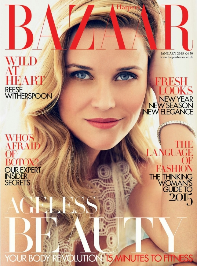 Reese Witherspoon - Harper's Bazaar Magazine, UK, January 2015 1