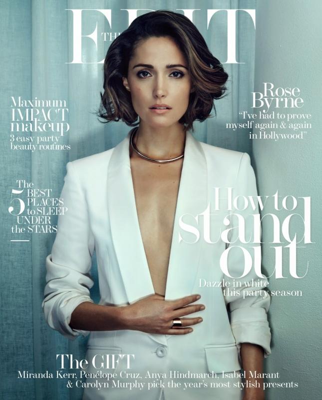 Роуз Бирн на обложке The Edit Magazine, декабрь 2014