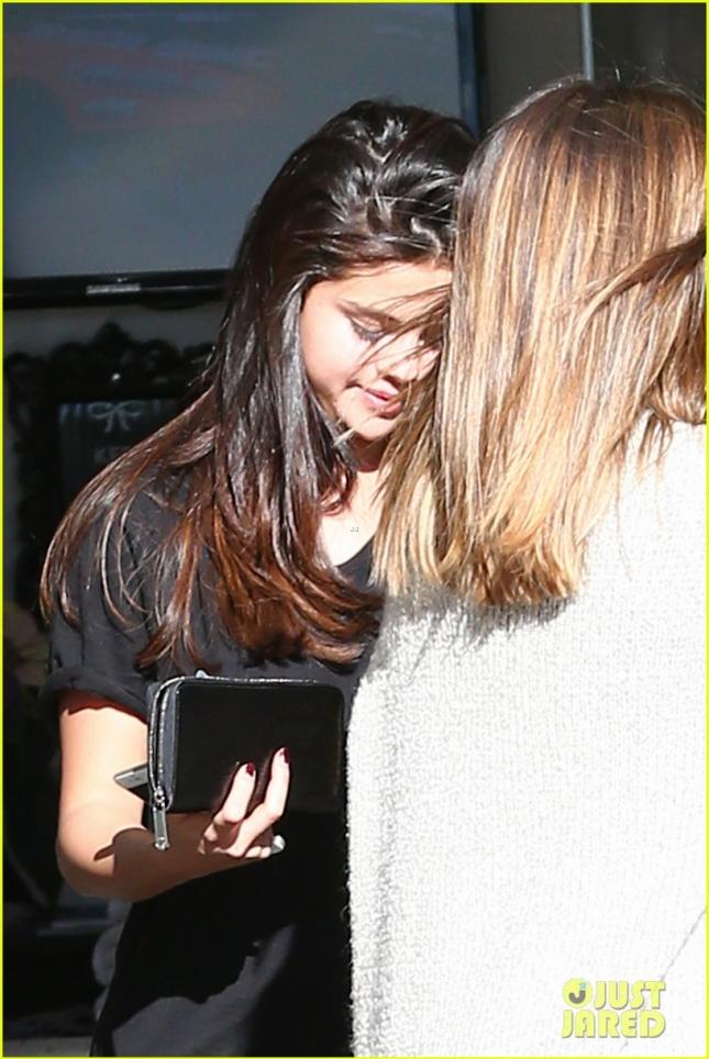 *EXCLUSIVE* Early bird Selena Gomez pampers herself in Calabasas