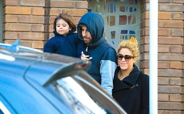 Шакира с Жераром Пике и сыном