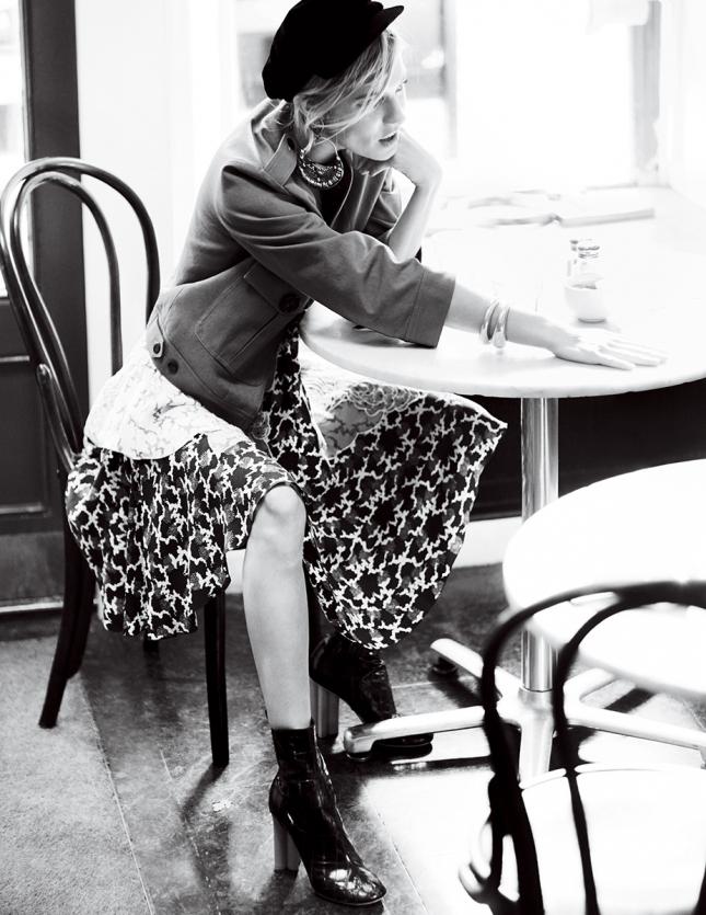 Сиенна Миллер в фотосессии для Vogue США, январь 2015