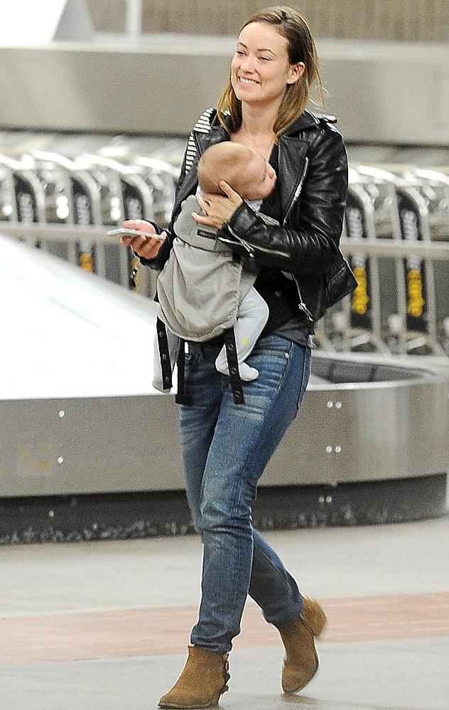 Оливия Уайлд с сыном