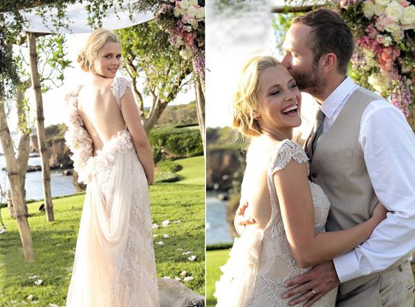 свадебные фото Терезы Палмер и Марка Уэббера