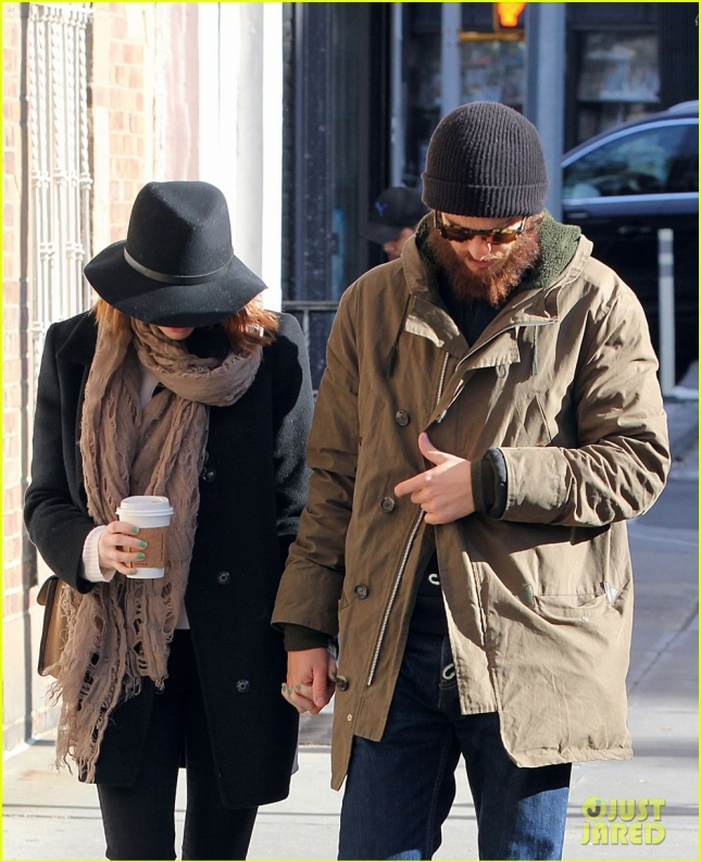 Emma Stone & Andrew Garfield Bundle Up For A Stroll In NYC
