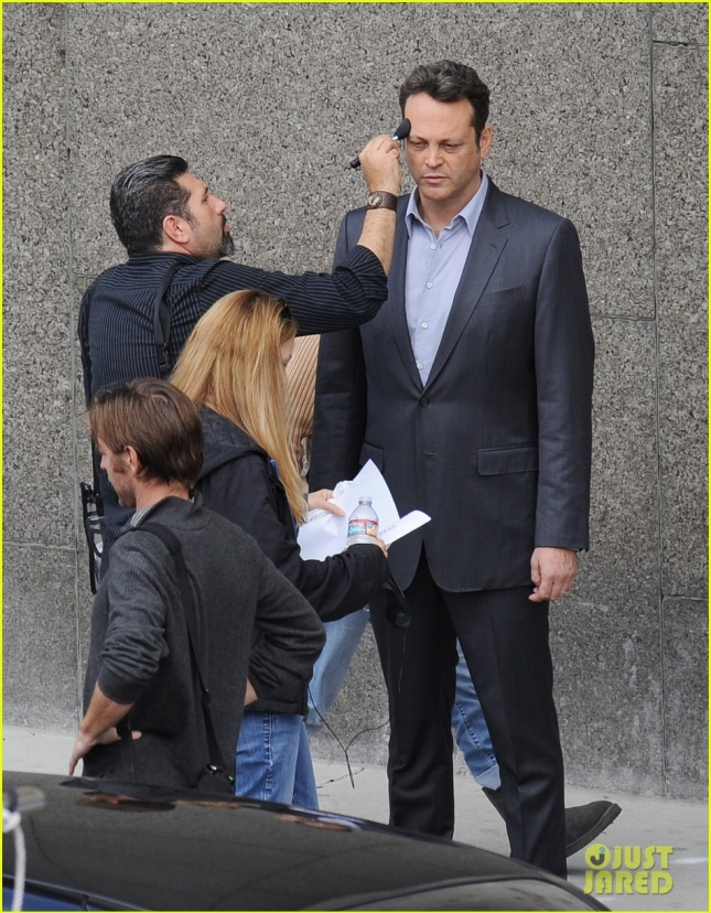 "Vince Vaughn filming ""True Detectives"""