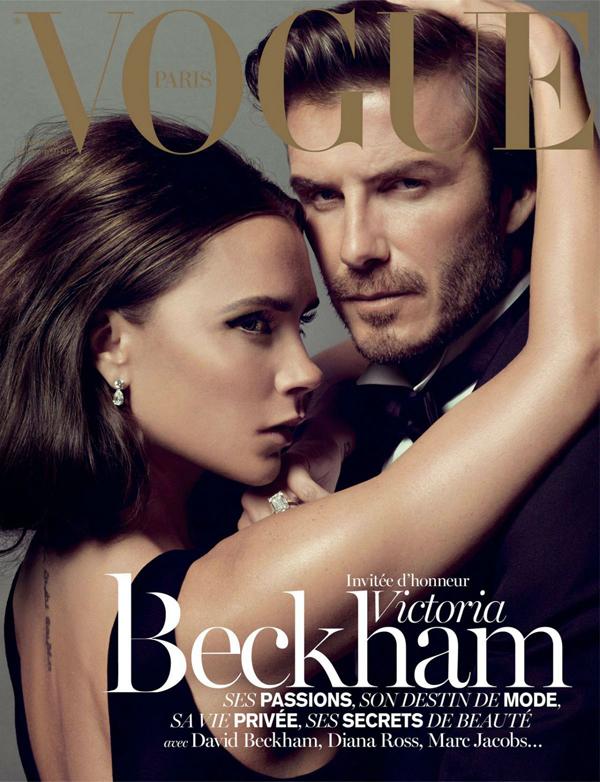 Виктория и Дэвид Бекхэм на обложке Vogue Париж