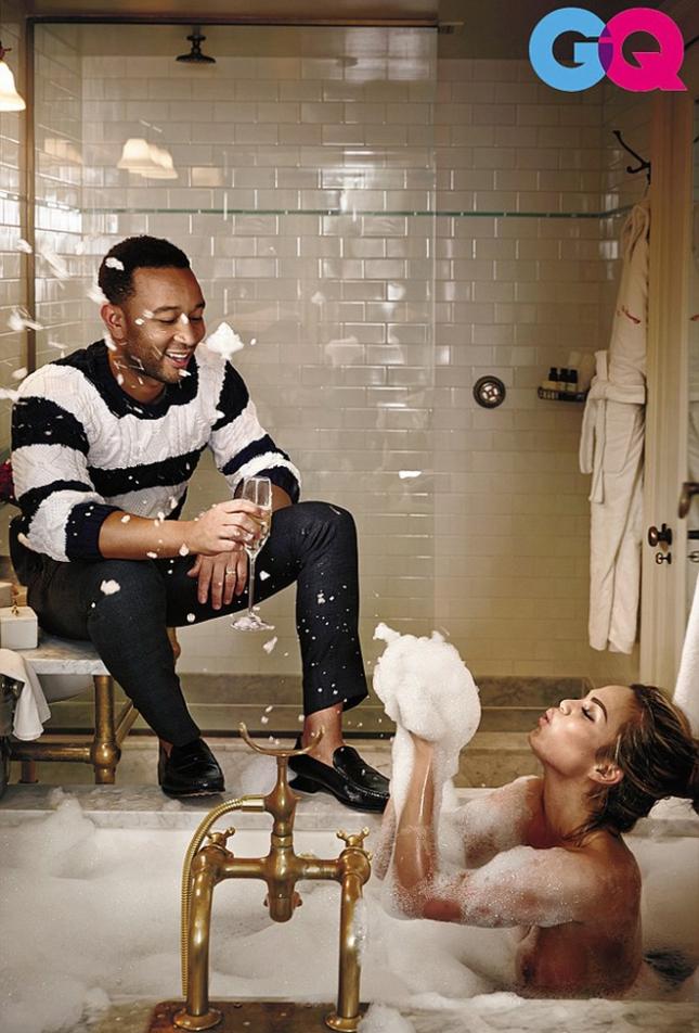 Джон Ледженд и Крисси Тейген в фотосессии GQ США