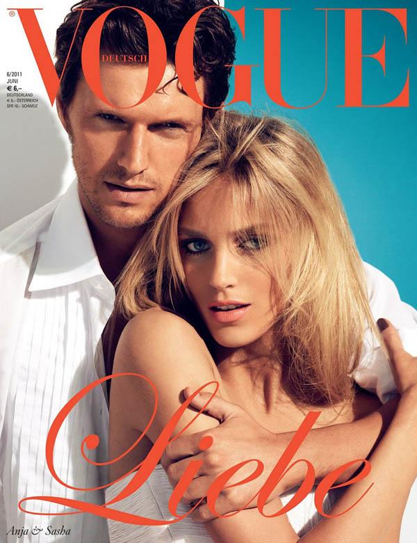 Аня Рубик и Саша Низевик на обложке Vogue Германия