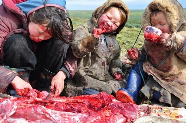 Сырое мясо едят даже дети