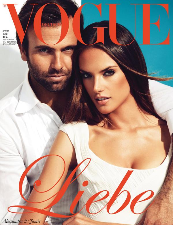 Алессандра Амбросио и Джейми Мазур на обложке Vogue Германия