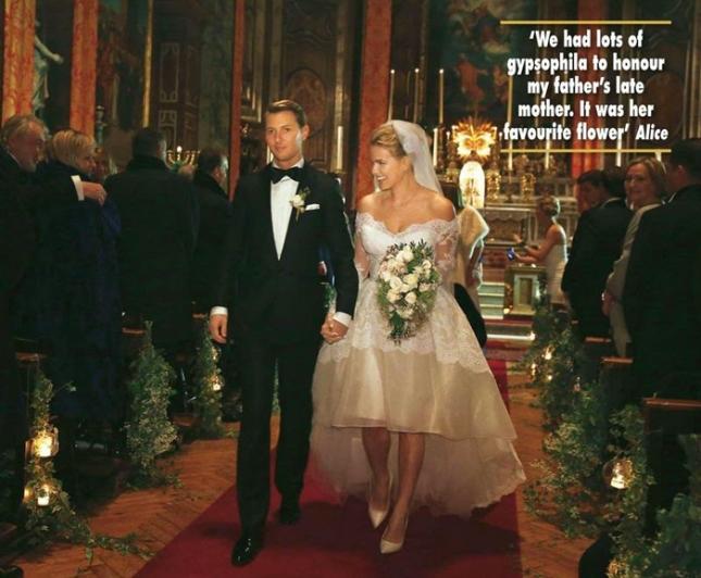 Свадебные фото Элис Ив - фото из журнала Hello