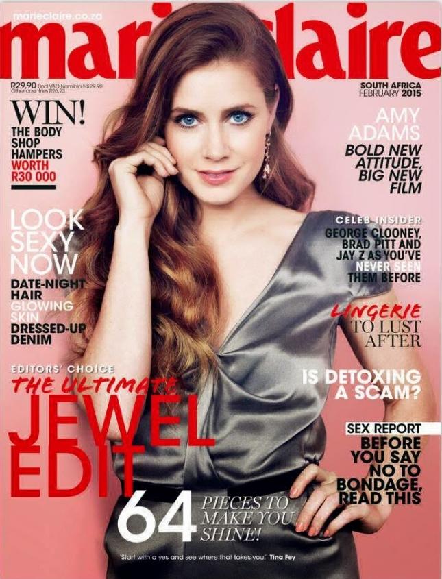Эми Адамс на обложке Marie Claire, South Africa, февраль 2015