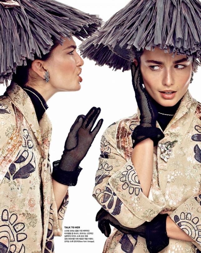 Андреа Дьякони в фотосессии для Vogue Корея