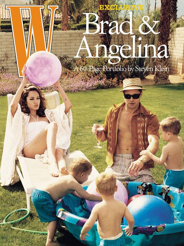 Анджелина Джоли и Брэд Питт на обложке W magazine