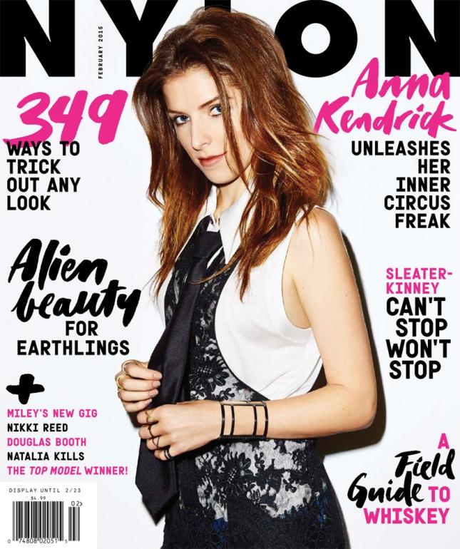 Анна Кендрик на обложке Nylon, февраль 2015