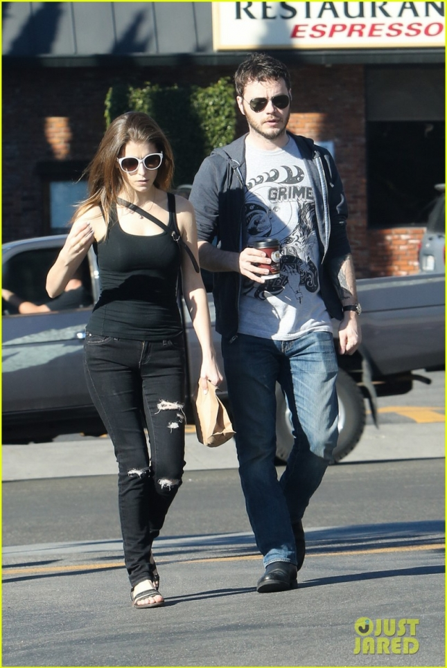 EXCLUSIVE: Anna Kendrick steps out with her boyfriend Ben Richardson to grab a Sunday morning coffee