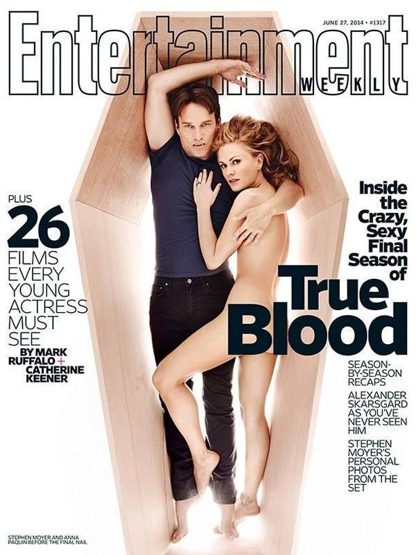 Анна Пэкуин и Стивен Мойер на обложке Entertainment Weekly