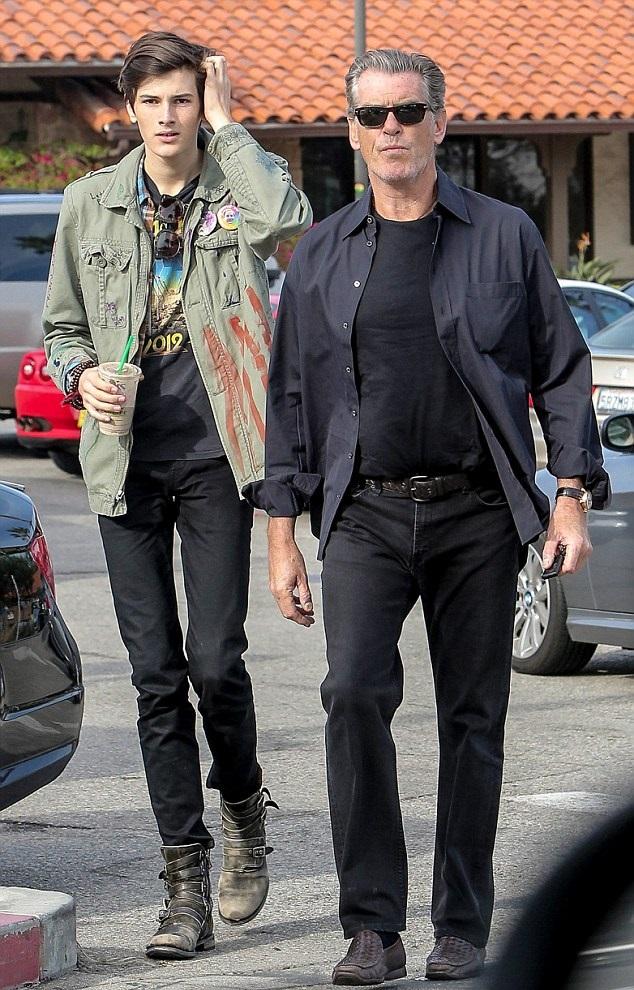 Пирс Броснан со своим сыном Диланом
