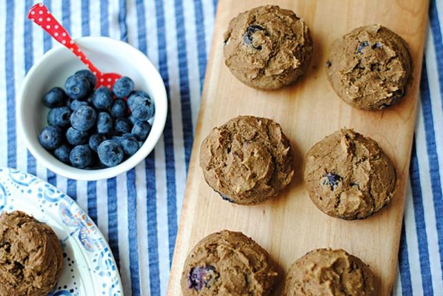 clean-blueberry-protein-muffins-645x432