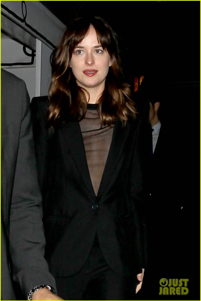 Dakota Johnson looking cute leaving the Chateau Marmont **NO Australia, New Zealand**