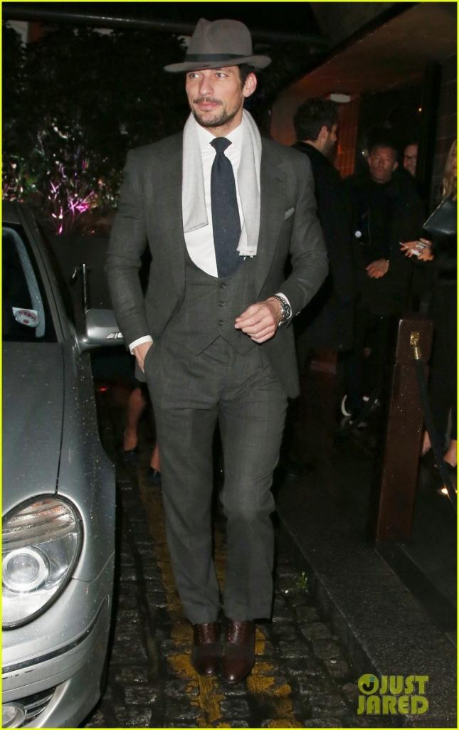 Дэвид Ганди на вечеринке GQ в честь закрытия лондонской недели мужской моды