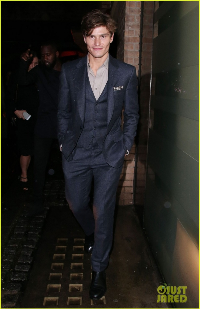 Оливер Чешир на вечеринке GQ в честь закрытия лондонской недели мужской моды
