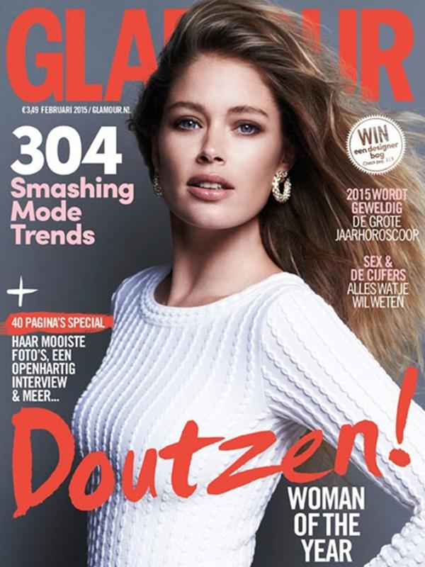 Даутцен Крез на обложке Glamour Netherlands, февраль 2015