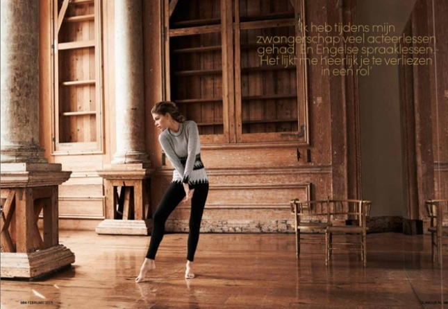 Даутцен Крез для Glamour Netherlands, февраль 2015