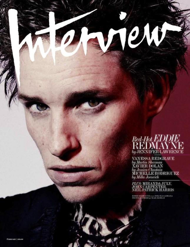 Эдди Редмэйн на обложке февральского  Interview США