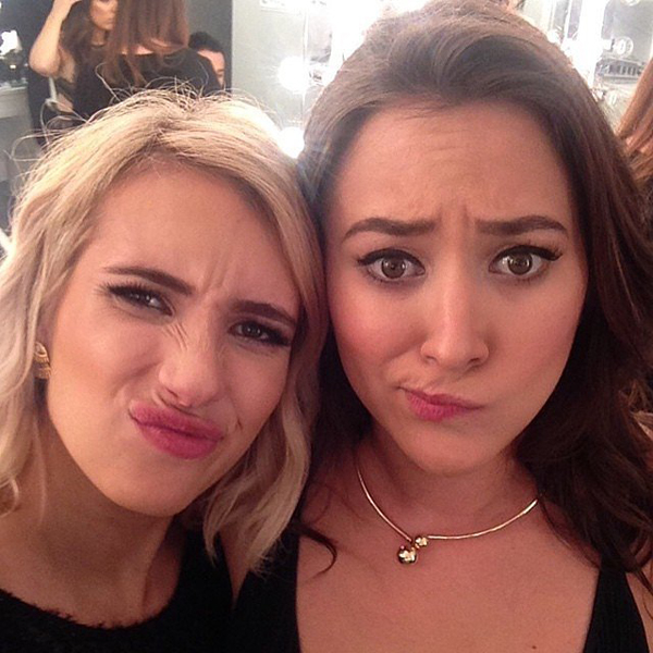 Emma-Roberts-made-funny-faces-Shay-Mitchell