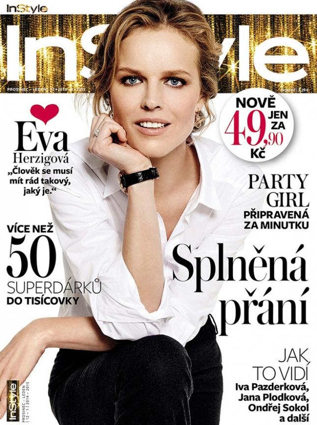 Ева Герцигова на обложке InStyle Чехия