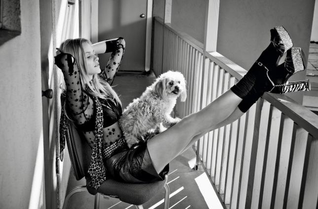 Гинта Лапиня для  Glamour France, февраль 2015