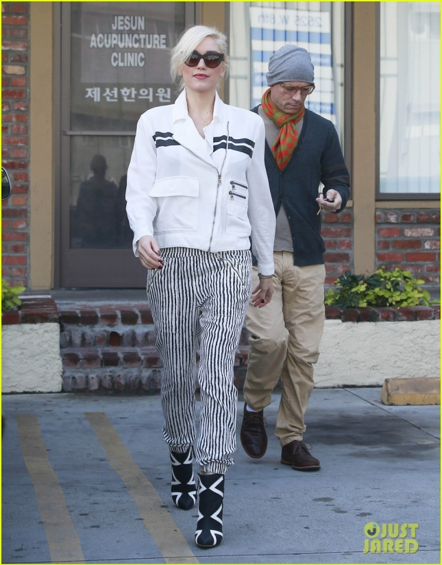 Gwen Stefani Leaving Her Acupuncture Appointment
