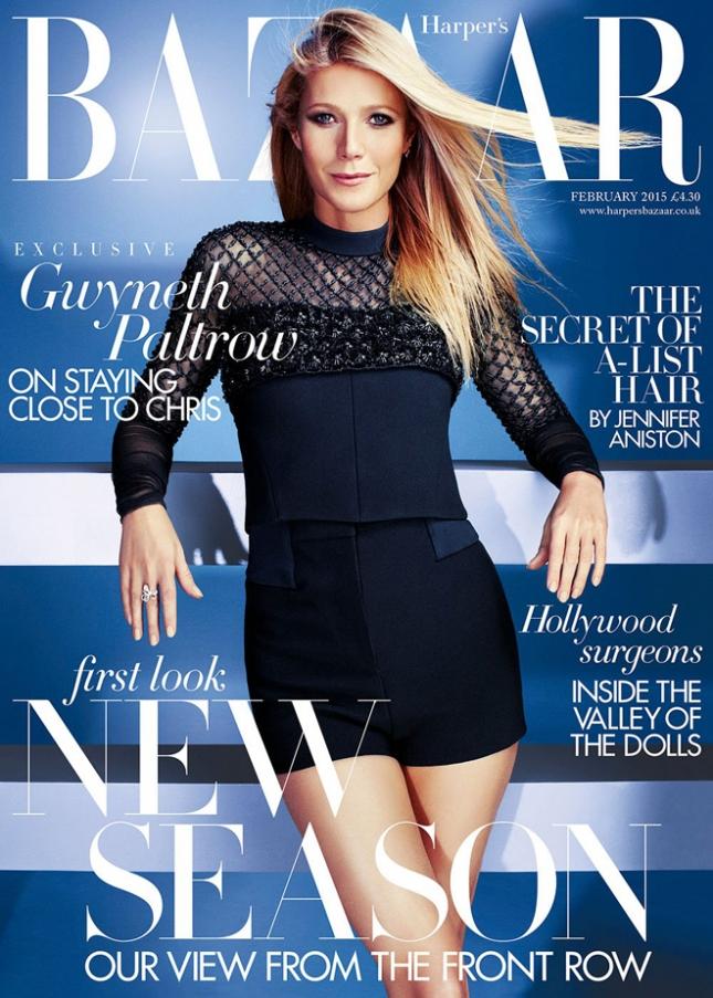 Гвинет Пэлтроу на обложке февральского Harper's Bazaar Британия